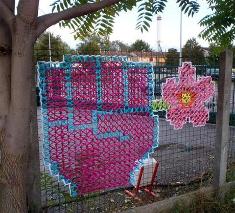 Urban X Stitch: Graffiti mit Garn