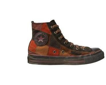 #Converse Schuhe All Star Chucks Leder Patchwork Hippie Design