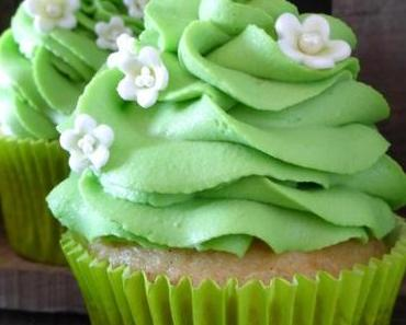 Double Vanilla Cupcakes mit Waldmeister Topping