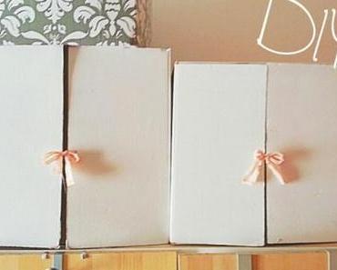 DIY Upcycling – Anbauregal für Kleiderkasten aus Pappschachteln!