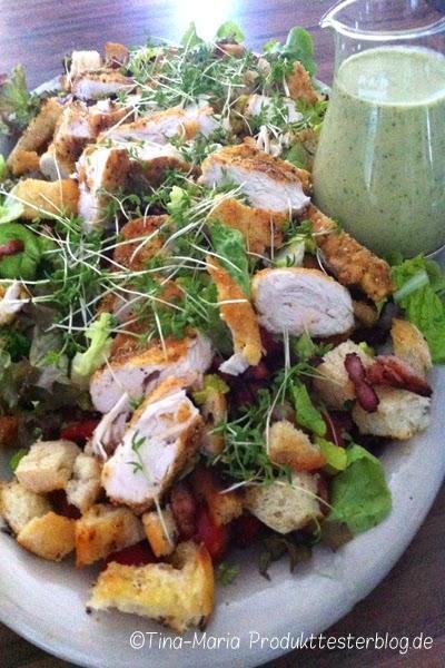 jamie oliver caesar salat mit iglo feine landschnitzel nach wiener art. Black Bedroom Furniture Sets. Home Design Ideas