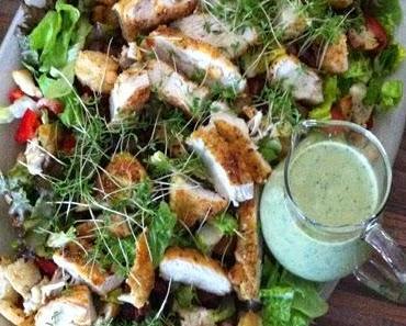 Jamie Oliver - Caesar Salat mit iglo feine Landschnitzel nach Wiener Art !