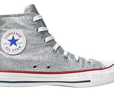 #Converse Schuhe All Star Chucks silberne Glitzer Converse Chucks 109740 Silber