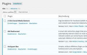Empfohlene WordPress Plugins im Einsatz auf meinem Blog
