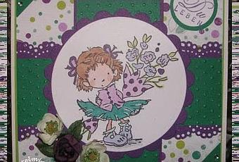 Geburtstagskarte gr n lila for Lila und grun kombinieren