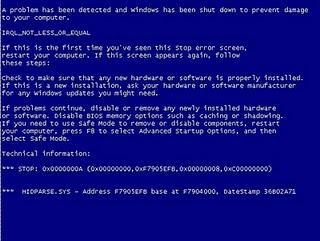 Windows 7 Update bedankt sich mit Bluescreen