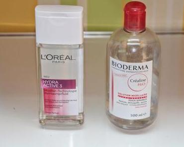 Bioderma und L'oréal Mizellenwasser