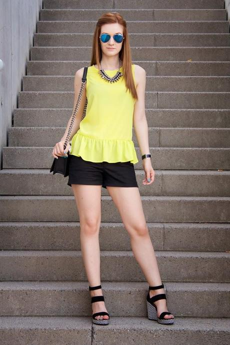 LIME GREEN PEPLUM