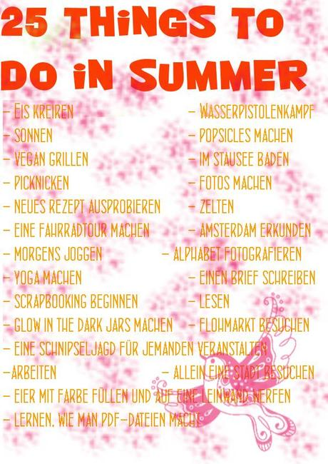 25 things to do in summer