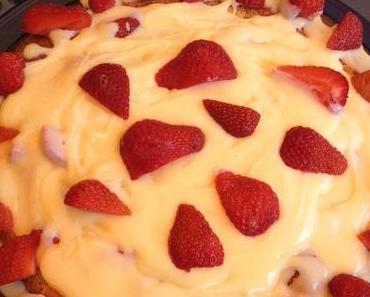 Backflipmittwoch – Erdbeer-Pudding-Kuchen