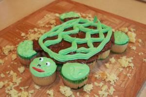Schildkröten Cupcake – ideal für einen festlichen Anlass