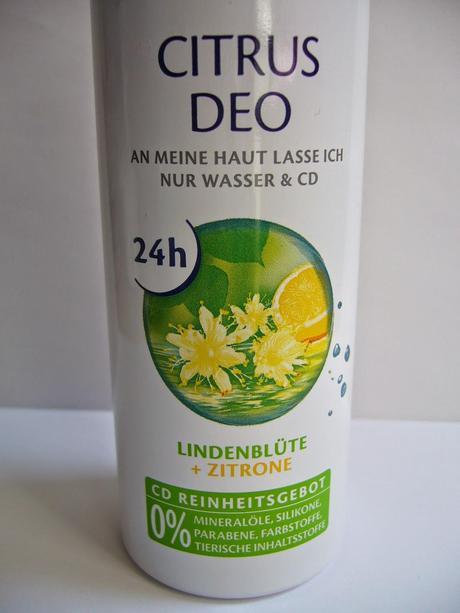 review cd citrus deo ohne aluminium lindenbl te und. Black Bedroom Furniture Sets. Home Design Ideas