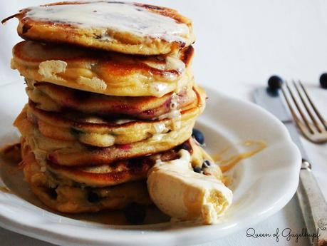 Delicious Easter Brunch Recipe: Blueberry Buttermilk Pancakes
