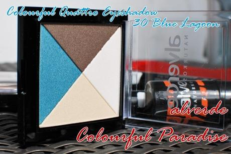 alverde colourful quattro eyeshadow 30 blue lagoon