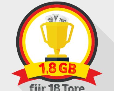 Vodafone verschenkt 1,8 GB monatliches Volumen