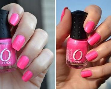 Orly Flirty mit Chrome Tips
