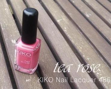KIKO nail lacquer 486 tea rose