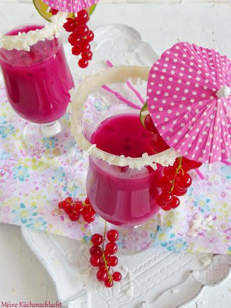 Pink Coco Kiss Cocktail { Alkoholfrei }