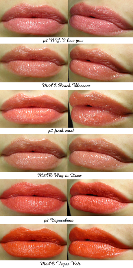 Color Series - Peach/Koralle/Orange Lippenstift Favoriten