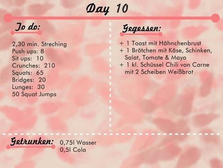 Workout Diary Day 6 - 10