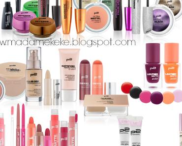 p2 Cosmetics Neues Sortiment Herbst 2014
