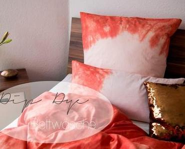 DIY - Dip Dye Bettwäsche