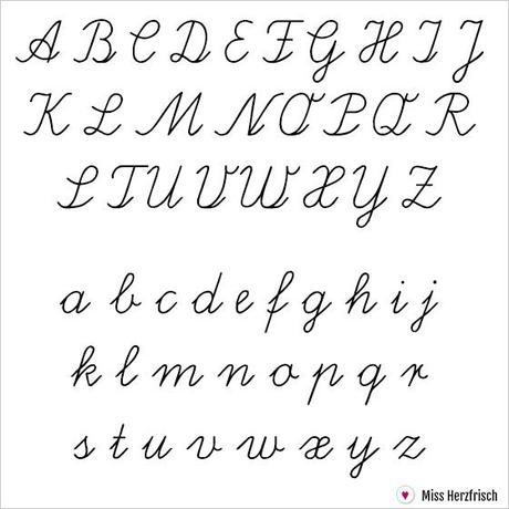 List Of Alphabet Letters In Cursive