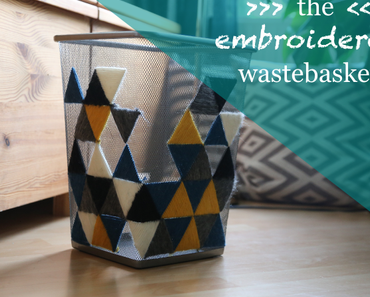 the embroidered wastebasket