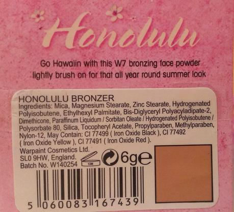 W7 'Honolulu Face Powder'