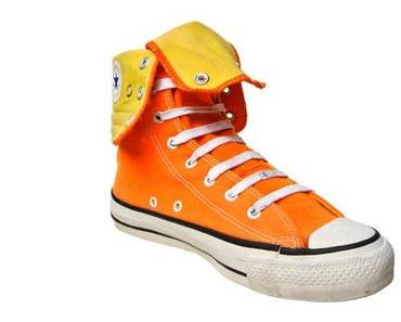#Converse Schuhe All Star Chucks XHI Orange Gelb Vintage Made in USA 90s