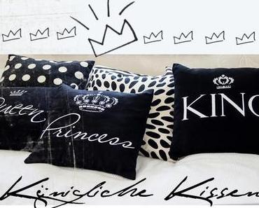 Königliche Kissen im Schlafzimmer
