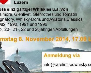 Herbst-Tasting: SA 8. November 2014 um 17 Uhr im Haus der Maskenliebhaber Gesellschaft der Stadt Luzern