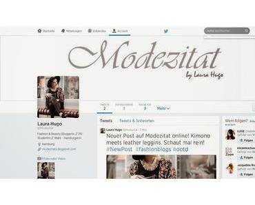 Modezitat goes Twitter!