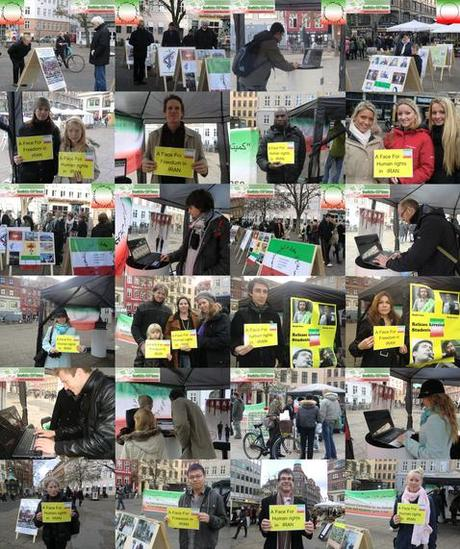 A face for human rights in Iran - solidarity action in Strasbourg