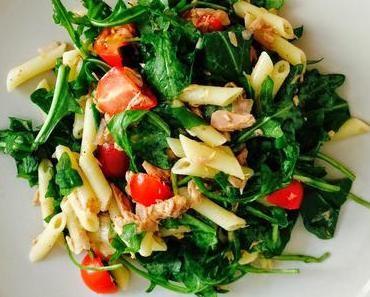 Rucola-Thunfisch-Nudel-Salat