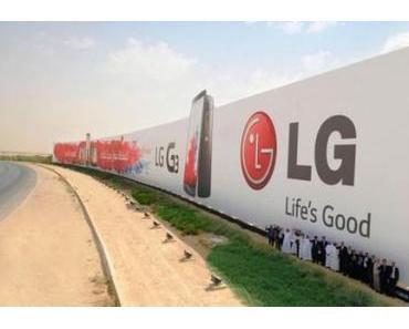 LG mit gigantischer Werbetafel im Guinnessbuch