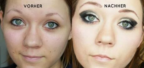 Glamour Augen Make Up
