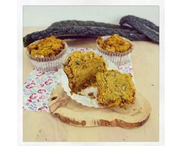 Herbstliche Kürbis und Grünkohl Muffins