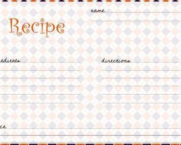 10 Halloween Rezeptkarten zum kostenlosen Download