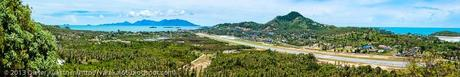 Panorama image of the week - Airport Koh Samui