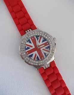 Wahlfeld- Damen Armbanduhr im Great  Britain Union Jack Trend