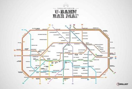 U Bahn Bar Map Berlin   Wo man gut Bier tanken kann