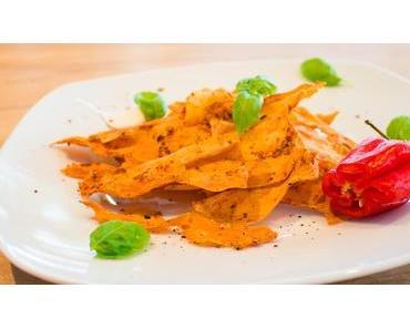 Nur 3+3 Zutaten für feurig scharfe Süßkartoffel-Chips