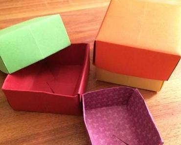 Origami: Hübsche Papierschachteln falten