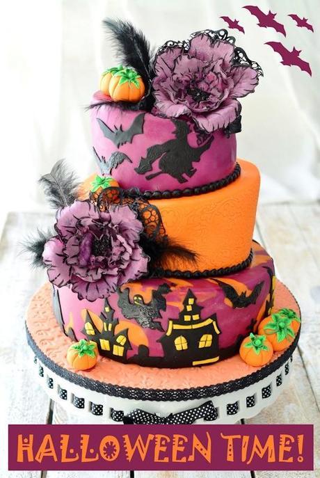 topsey turvy halloween cake bunte herbstlaub kekse und. Black Bedroom Furniture Sets. Home Design Ideas