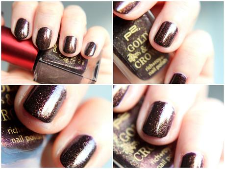 Tipp: p2 Gold & Crown LE - Nagellack 010 brown spender + 040 purple charism