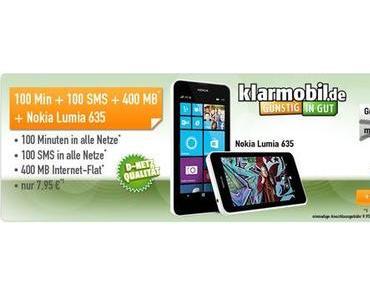 Mobilfunk Angebot: Nokia 635 Smartphone + Allnet Starter für 7,95 € mtl.!