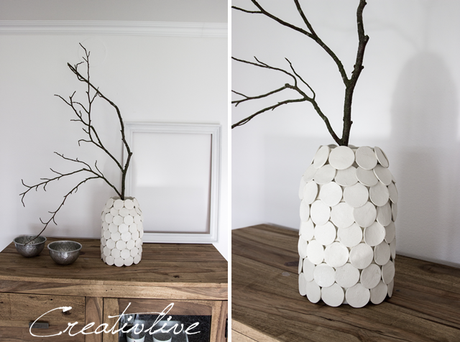 diy vase dots. Black Bedroom Furniture Sets. Home Design Ideas