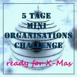 5 Tage Mini - Organisations Challenge: Putzen, Termine Organisieren und Dekorieren - Tag 4