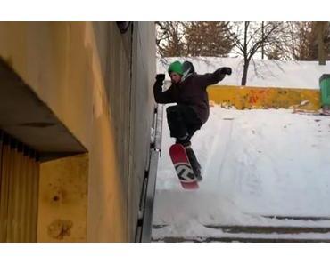 Wintersport Snowskating – Ein Skateboard ohne Achsen